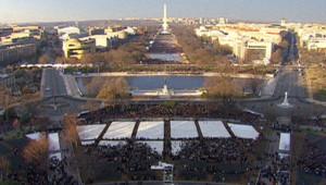Affluence à Washington pour l'investiture de Barack Obama, 21/1/13