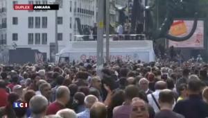 Turquie : hommage sur les lieux de l'attentat près de la gare d'Ankara