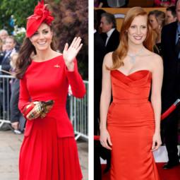 Kate Middleton, Rihanna... toutes adeptes de la robe rouge