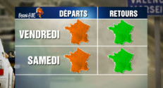 Le 13 heures du 18 décembre 2014 : Bison Futé : drapeau orange pour les départs dès vendredi - 475.199