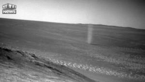 Les images rares d'une tornade de sable sur Mars