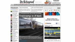 Collision de deux trains à Amsterdam le 21 avril 2012.