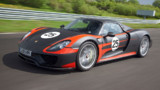 La Porsche 918 Spyder de dveloppement numro 25, sur le circuit de Leipzig, en mai 2013.