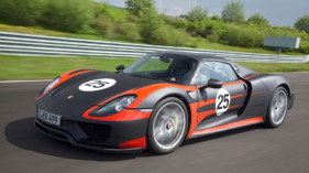 Le prototype de pr-production de la Porsche 918 Spyder en photos