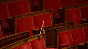 Bancs de l'Assemblée nationale en février 2014