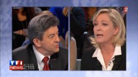 Marine Le Pen refuse de débattre avec Mélenchon, Des Paroles et des Actes