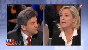 Cacophonie et embarras pendant le débat entre Mélenchon et Le Pen