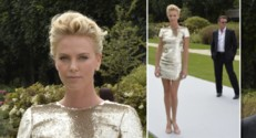 Charlize Theron Dior Fashion Week