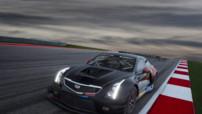 La nouvelle voiture de course de Cadillac, l'ATS-V.R, spécialement conçue pour les différents championnats GT3.