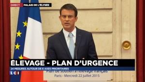 """Manuel Valls aux éleveurs : """"24 mesures autour de 6 axes prioritaires"""""""