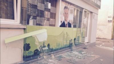 La permanence de François de Rugy à Nantes vandalisée