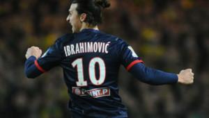 Zlatan Ibrahimovic, le 4/2/14, lors du match Nantes-PSG