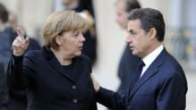 Angela Merkel et Nicolas Sarkozy à l'Elysée le 5 décembre 2012