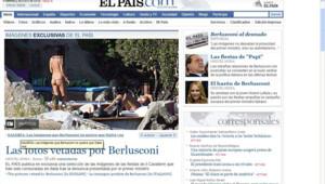 el pais capture ecran photos villas berlusconi