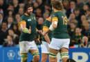 Les joueurs sud africains lors du match pour la 3e place du Mondial de rugby 2015