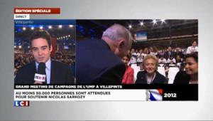 Meeting de Villepinte : Bernadette Chirac au premier rang