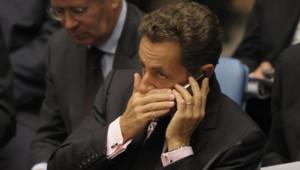 Nicolas Sarkozy à l'ONU en septembre 2009