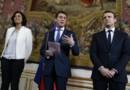 Myriam El Khomri, Manuel Valls et Emmanuel Macron