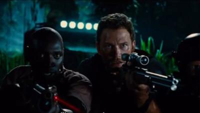 Omar Sy et Chris Pratt dans Jurassic World