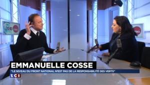 """Régionales : """"Le niveau du FN n'est pas de la responsabilité des Verts"""" se défend Emmanuelle Cosse"""