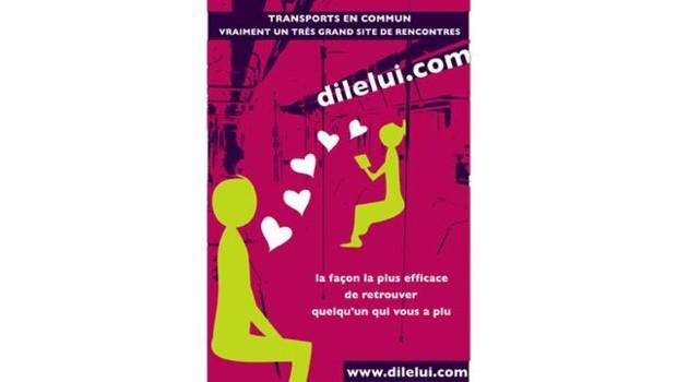 TF1-LCI : affiche publicitaire de dilelui.com à Rennes