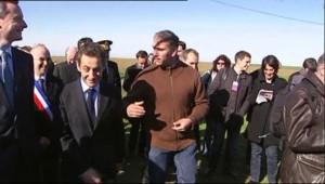 céréalier agriculteur Nicolas Sarkozy
