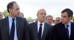 Jean-François Copé, Alain Juppé et François Fillon en mai 2012/Image d'archives
