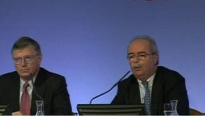 TF1/LCI - Le PDG de Total, Christophe de Margerie (à gauche)