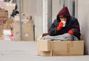 Une femme sans-abris