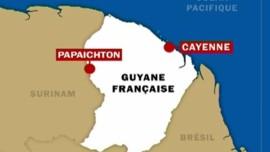 TF1/LCI : Carte de la Guyane