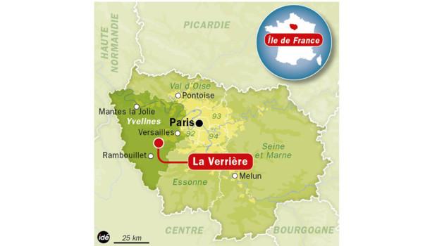 Localisation de la Verrière, dans les Yvelines.