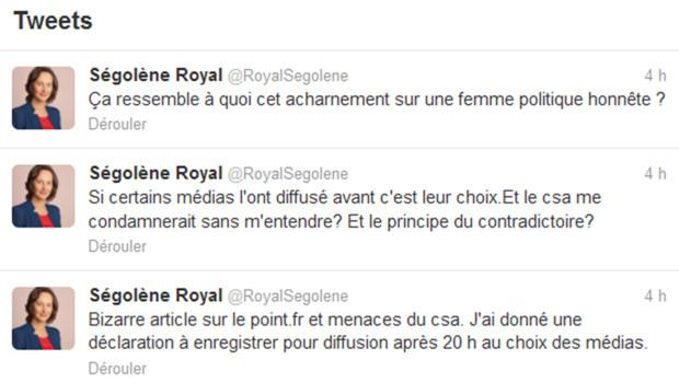 Sur le compte twitter de Ségolène Royal, le 19 juin 2012.