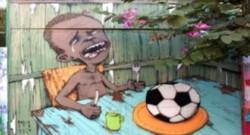 Un dessin anti-Mondial 2014 du graffeur brésilien Paulo Ito.