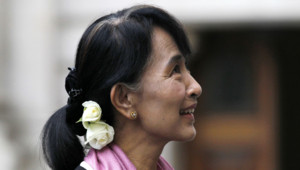 Aung San Suu Kyi à Londres le 21 juin 2012
