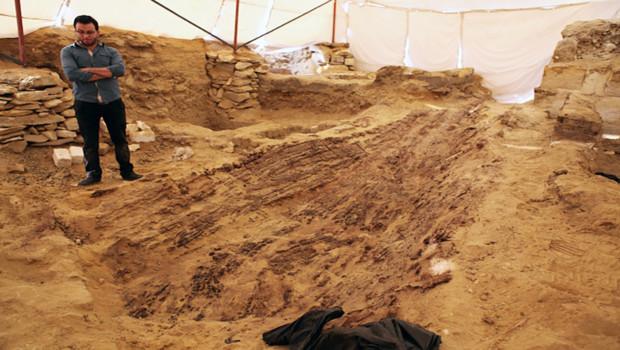 Les restes du bateau ont été découverts près du Caire.