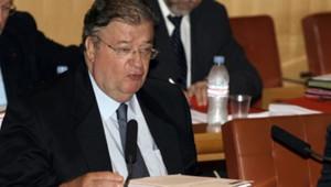 TF1-LCI/AFP-P.Guyot : Le président PS de la région Languedoc-Roussillon Georges Frêche le 19 octobre 2006