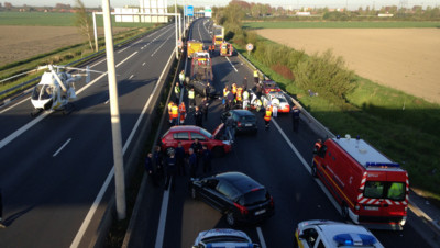 Accident autoroute A16 Dunkerque Nord Belgique