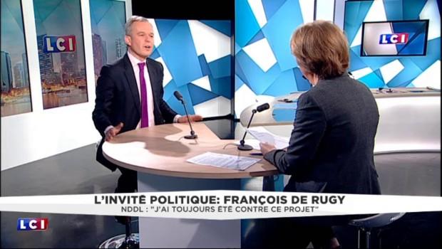 """Aéroport NDDL : """"Je vais me battre pour que le non l'emporte"""" annonce François de Rugy"""