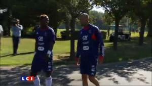 Zidane à l'entraînement des Bleus