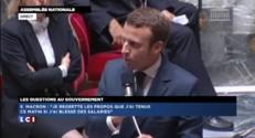 """Emmanuel Macron : """"Mes excuses les plus plates vont à l'égard des salariés que j'ai blessés"""""""