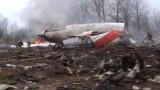 L'avion du président polonais qui s'est écrasé en Russie, le 10 avril 2010.