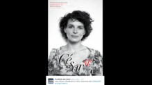 Juliette Binoche sur l'affiche des César 2016.