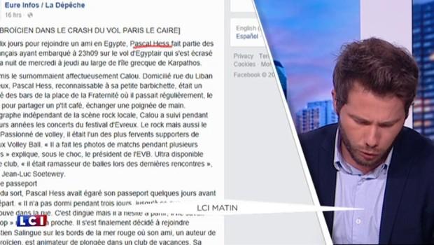 L'oeil du web : qui sont les 15 victimes françaises du vol EgyptAir ?