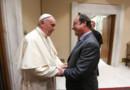 Le pape François avec François Hollande, au Vatican, le 17/8/2016