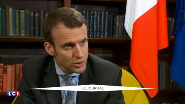 """Macron : """"Je pense que François Hollande pourrait être en position de gagner"""" la présidentielle"""