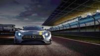 Première image officielle pour la Mercedes-AMG GT3, ici en vue arrière, qui prendra part aux différents championnats GT à partir de 2016.