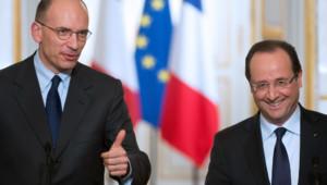 Enrico Letta, le président du Conseil italien et François Hollande