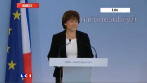 L'annonce de candidature de Martine Aubry