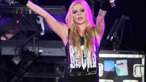 Avril Lavigne lors d'un concert en mai 2014.