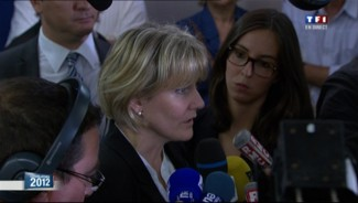Nadine Morano s'exprime &agrave; Neuves-Maisons apr&egrave;s sa d&eacute;faite aux l&eacute;gislatives, 17 juin 2012